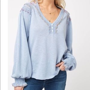free people dreamy clouds blouse SZ XS